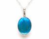 blue morpho butterfly pendant