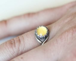 real butterfly wing ring sulphur